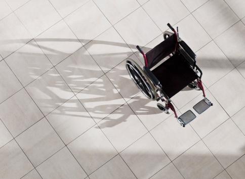 Conquering Adversity「Empty wheel chair in lobby」:スマホ壁紙(7)