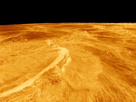 Escarpment「3D Perspective View of Latona Vorona and Dali Chasma on Venus.」:スマホ壁紙(16)