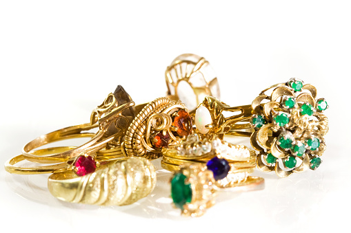 Costume Jewelry「Collection of Vintage Rings」:スマホ壁紙(6)