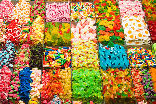 Collection of a colorful assortment of candy:スマホ壁紙(壁紙.com)