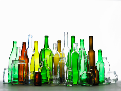 Recycling「Collection of bottles of various colours」:スマホ壁紙(1)