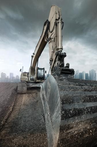 Earth Mover「Buldozer on construction site.」:スマホ壁紙(4)