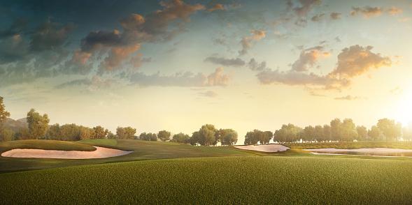 Volcanic Landscape「Golf: Golf course」:スマホ壁紙(12)
