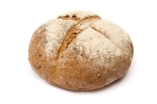 Sourdough Bread「Loaf of bread isolated on a white background」:スマホ壁紙(4)