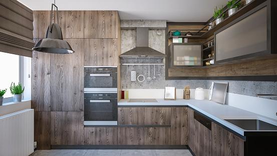 Sun「Modern domestic kitchen render」:スマホ壁紙(19)
