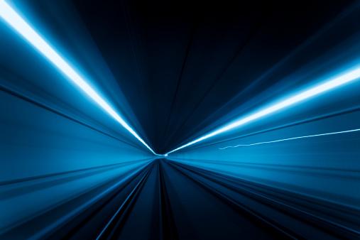 Dark Blue「Tunnel speed motion light trails」:スマホ壁紙(16)