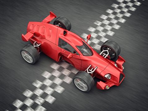 Hot Rod Car「race car on finish line」:スマホ壁紙(12)
