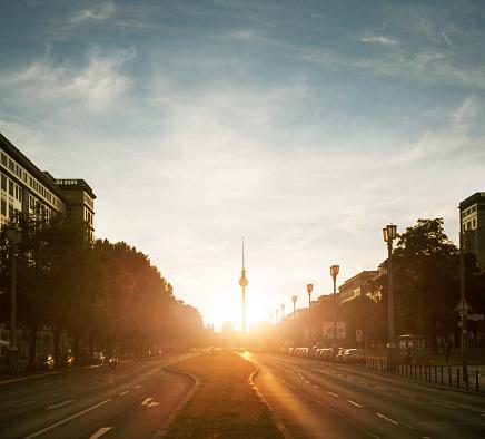 Berlin「Berlin, view towards TV tower.」:スマホ壁紙(1)