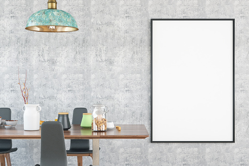 Art「Mockup Frame with Table and Decors」:スマホ壁紙(5)