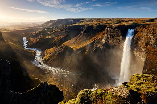 Iceland「Haifoss waterfall, Iceland」:スマホ壁紙(7)