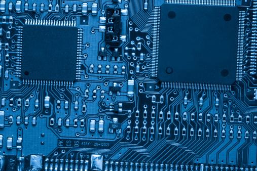 Circuit Board「Blue PCB」:スマホ壁紙(15)