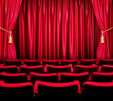 Curtain「Theatre seats facing a closed curtain」:スマホ壁紙(4)