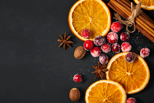 Nut - Food「Cranberries, Dried Oranges, and Spice for the Holidays」:スマホ壁紙(15)
