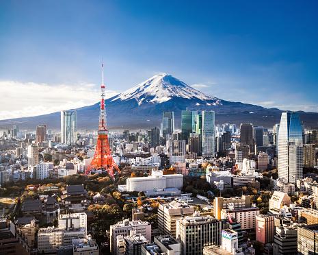 Tokyo Tower「Mt. Fuji and Tokyo Skyline」:スマホ壁紙(9)