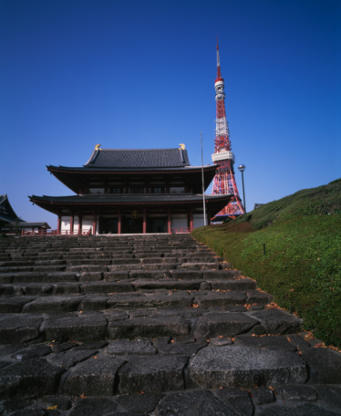 Tokyo Tower「Zojoji Temple and Tokyo Tower」:スマホ壁紙(3)