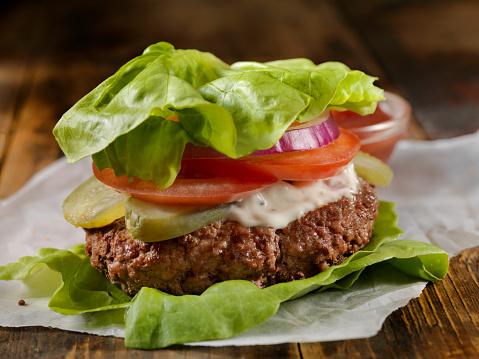Bacon Cheeseburger「Low Carb - Lettuce Wrap Burger」:スマホ壁紙(9)