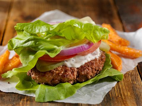 Ketogenic Diet「Low Carb - Lettuce Wrap Burger」:スマホ壁紙(14)