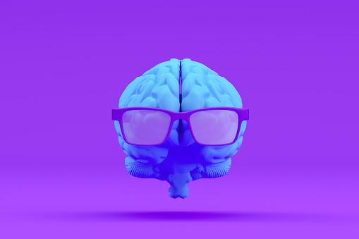 Deep Learning「Brain with Eyeglasses, Artificial Intelligence Concept」:スマホ壁紙(14)