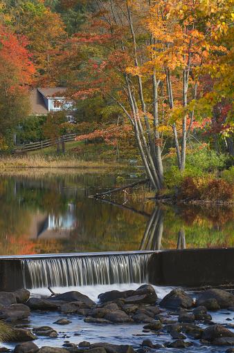 グリーン山脈「Fall foliage reflection Vermont」:スマホ壁紙(1)