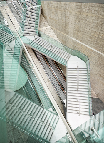 Individuality「Reflected Modern Architecture - Winding Stairs over Straight Escalators」:スマホ壁紙(14)