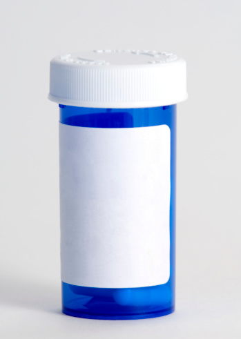 Pill Bottle「Blue plastic medicine container」:スマホ壁紙(8)