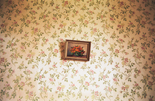 Old-fashioned「Painting of flowers on a tapestry of flowers」:スマホ壁紙(6)