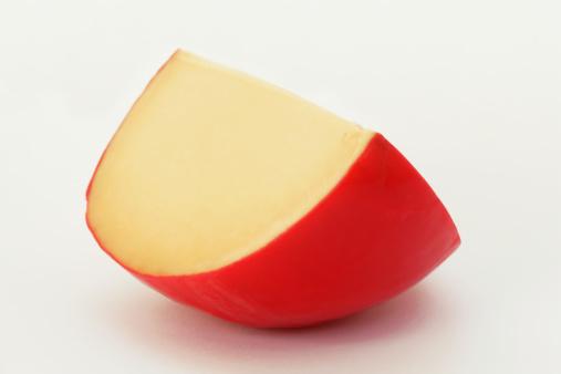 Edam Cheese「Wedge of Dutch Edam cheese on white background」:スマホ壁紙(14)