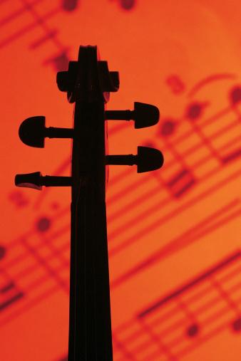 Violin「Neck of violin sheet music」:スマホ壁紙(0)