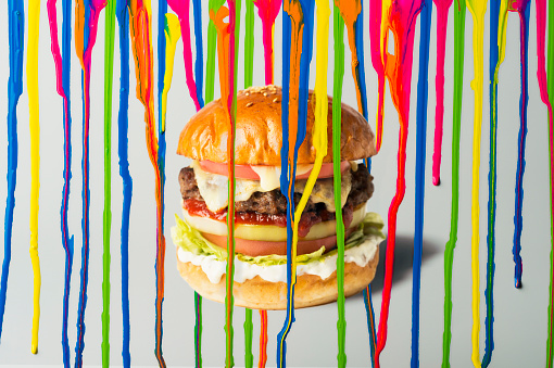 Art「Ink dripping with Hamburger」:スマホ壁紙(7)