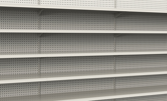 Retail「Empty store shelves ready to be filled」:スマホ壁紙(3)
