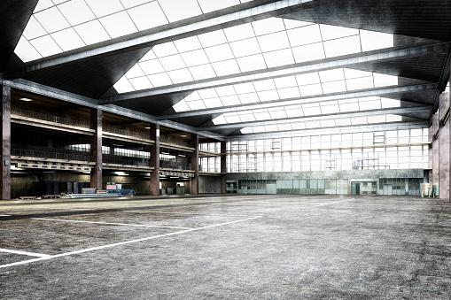 Steel「Empty storehouse interior」:スマホ壁紙(5)