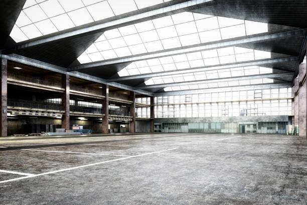 Empty storehouse interior:スマホ壁紙(壁紙.com)