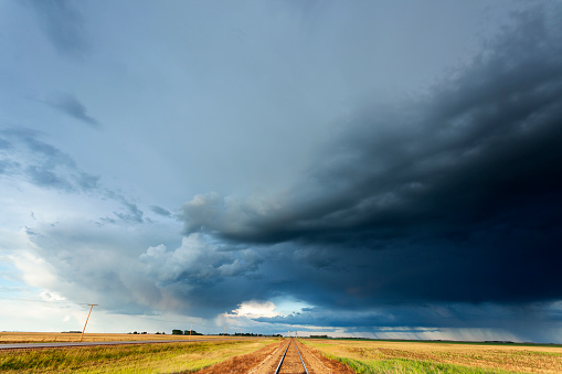 Mammatus Cloud「Prairie Storm Saskatchewan Canada」:スマホ壁紙(6)