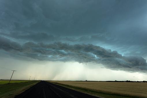 Mammatus Cloud「Prairie Storm Saskatchewan Canada」:スマホ壁紙(17)