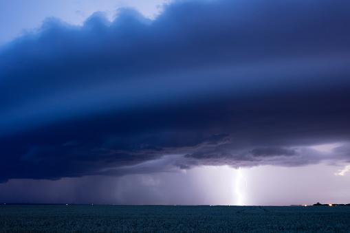 Mammatus Cloud「Prairie Storm Saskatchewan Canada」:スマホ壁紙(10)