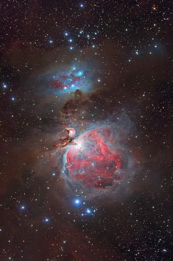 Supernova「Messier 42, The Great Nebula in Orion and NGC 1977, The Running Man Nebula. 」:スマホ壁紙(9)
