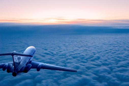 Commercial Airplane「Sunrise flight」:スマホ壁紙(3)
