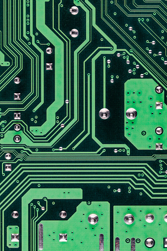 Mother Board「Abstract image showing part of the underside of a computer circuit board, United Kingdom」:スマホ壁紙(11)