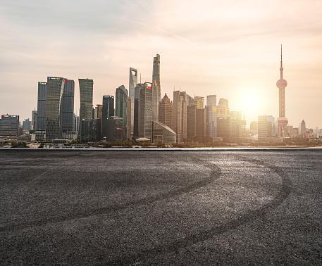 Shanghai「Urban Asphalt Road」:スマホ壁紙(5)