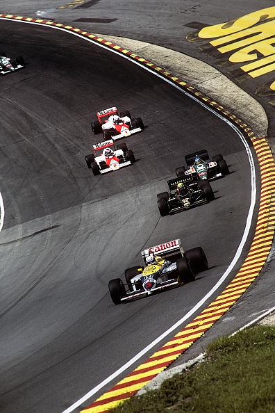 Motor Racing Track「Nigel Mansell, Ayrton Senna, Gerhard Berger, Alain Prost, Keke Rosberg, Grand Prix Of Great Britain」:写真・画像(15)[壁紙.com]