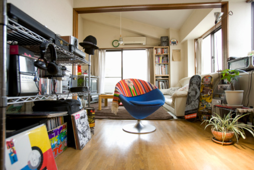 Home Interior「Apartment of Japanese man」:スマホ壁紙(1)