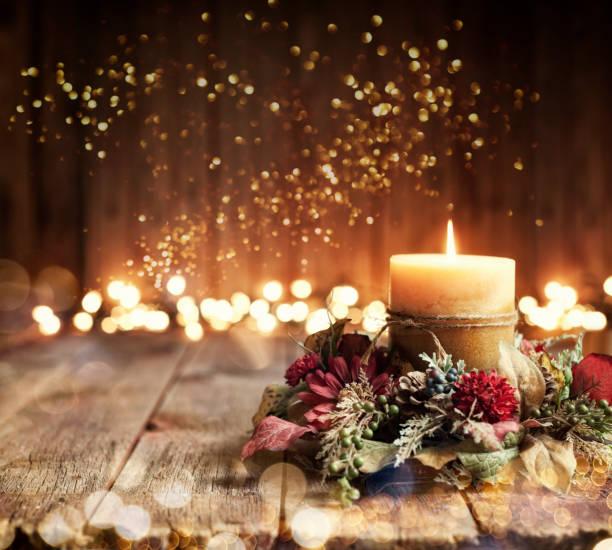 Holiday Candle Background:スマホ壁紙(壁紙.com)