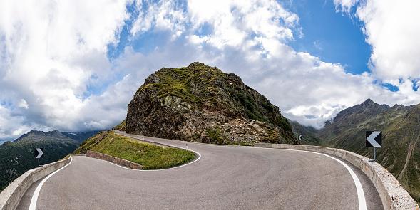 Hairpin Curve「Italy, South Tyrol, Passeier Valley, mountain pass Timmelsjoch」:スマホ壁紙(9)