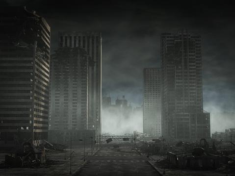 Battle「Destroyed Cityscape」:スマホ壁紙(10)