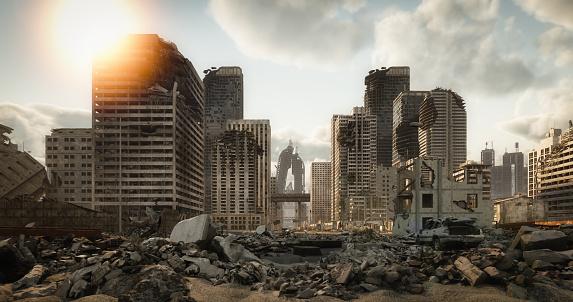 Earthquake「Destroyed Cityscape」:スマホ壁紙(5)