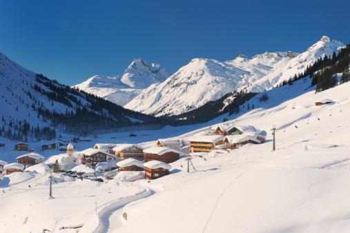 Ski Resort「Zug, in the valley of Lech, Vorarlberg」:スマホ壁紙(12)