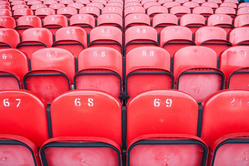Number「Empty seats in football stadium」:スマホ壁紙(12)