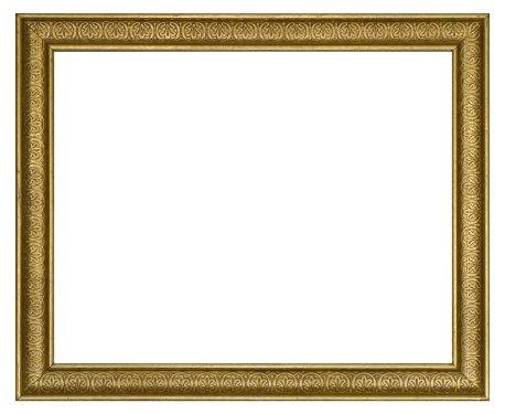 Antique「Ornate Gilded Picture Frame 8X10 Aspect Ratio.  Isolated w/Clipping Path」:スマホ壁紙(2)