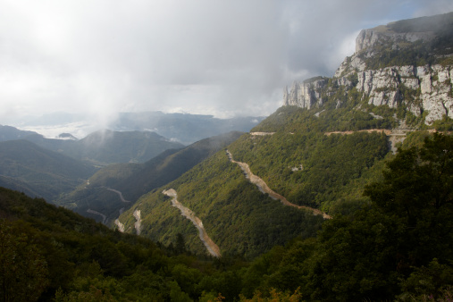 Hairpin Curve「Cloud swept mountains of Drome region, France」:スマホ壁紙(1)
