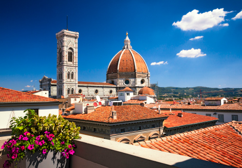 Cathedral「Florence Cathedral - across the rooftops」:スマホ壁紙(8)